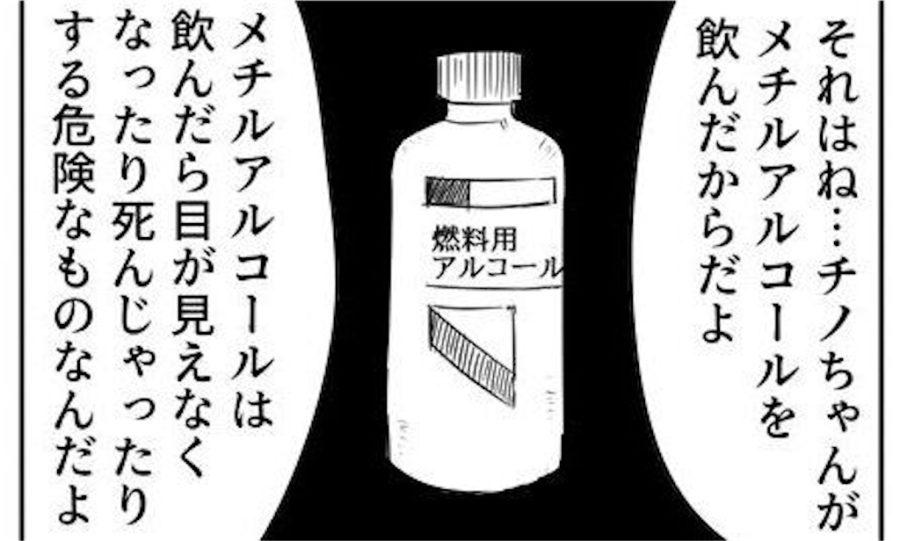 アルコール メチル チノ ちゃん